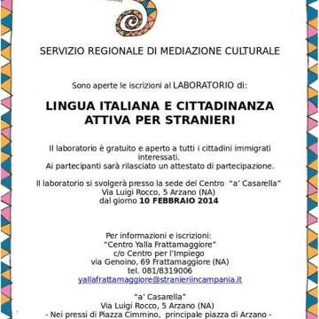 Corso di italiano per stranieri, dal 1 0 febbraio presso a Casarella