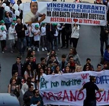 Vittime innocenti delle mafie; fiume di gente per le strade di Arzano