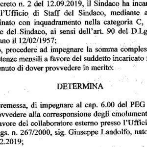 Grumo Nevano, 7000 e non 1200 euro in tre mesi per lo staff del sindaco con il comune in pre-dissesto