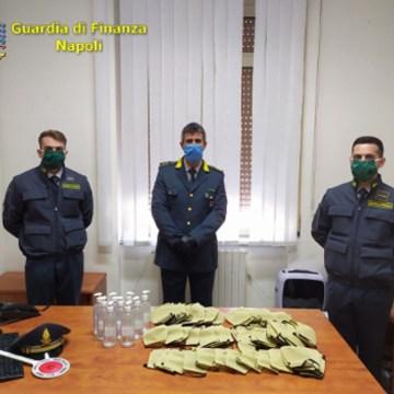Coronavirus, la GdF sequestra 5700 confezioni di igienizzante e 1000 mascherine non a norma