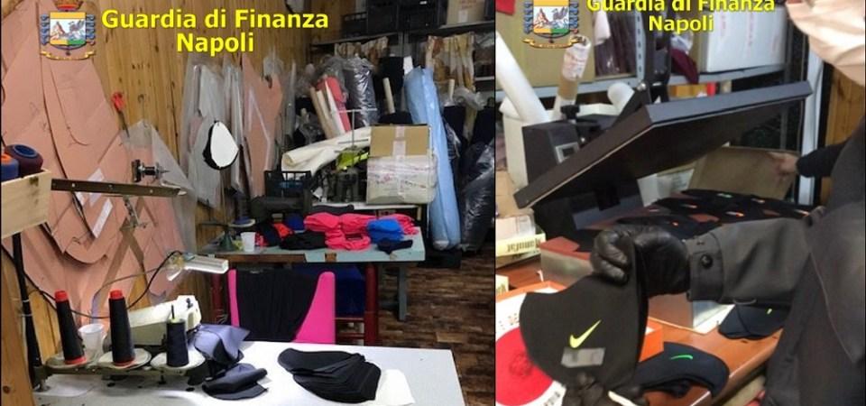 Mascherine illegali con marchi di famose griffe contraffatti sequestrate ad Ercolano. Due denunciati