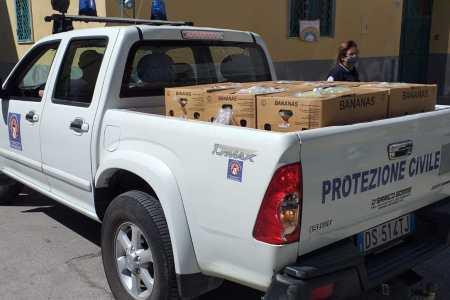 Grumo Nevano, emergenza Covid: la Protezione Civile ancora al fianco della città (foto)