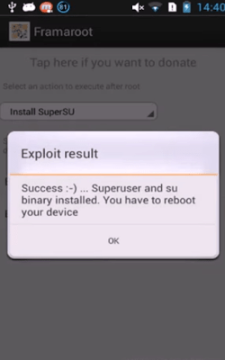 root android using Framaroot