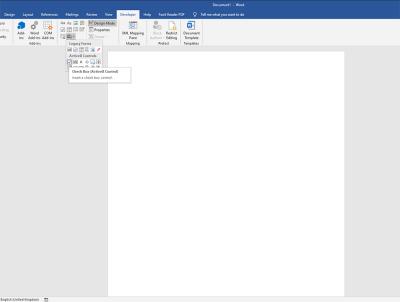 Check Box in Microsoft Word
