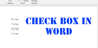 Check Box in Word