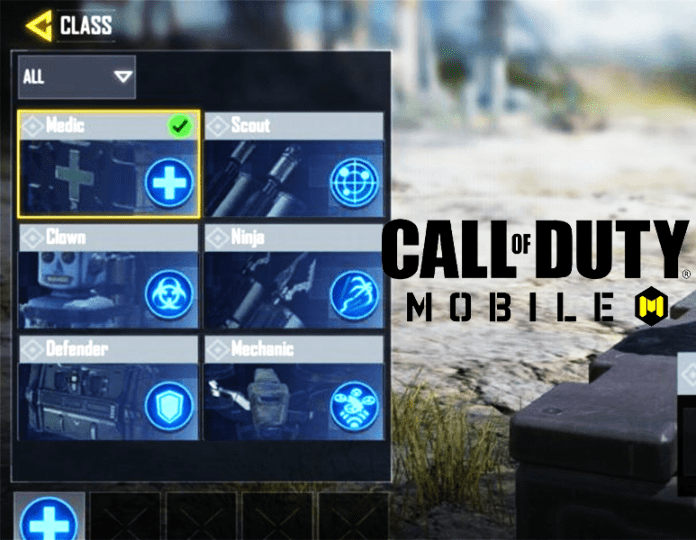 Call of Duty Mobile Battle Royale Classes
