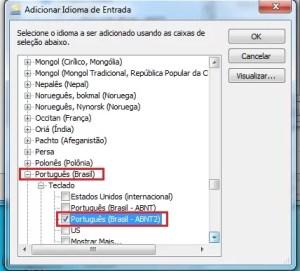 Como configurar o teclado no Windows 7