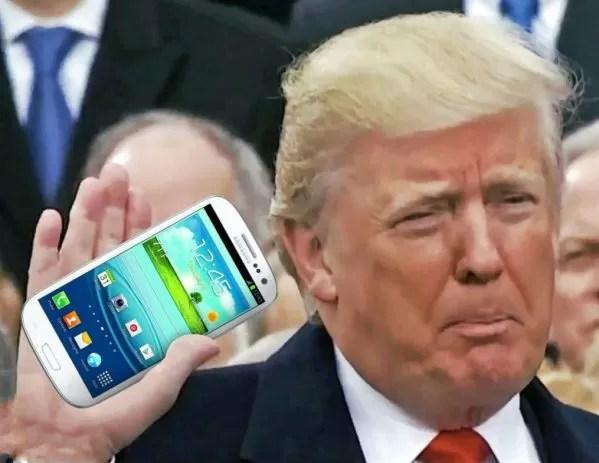 Velho celular de Trump dá medo a senadores Americanos