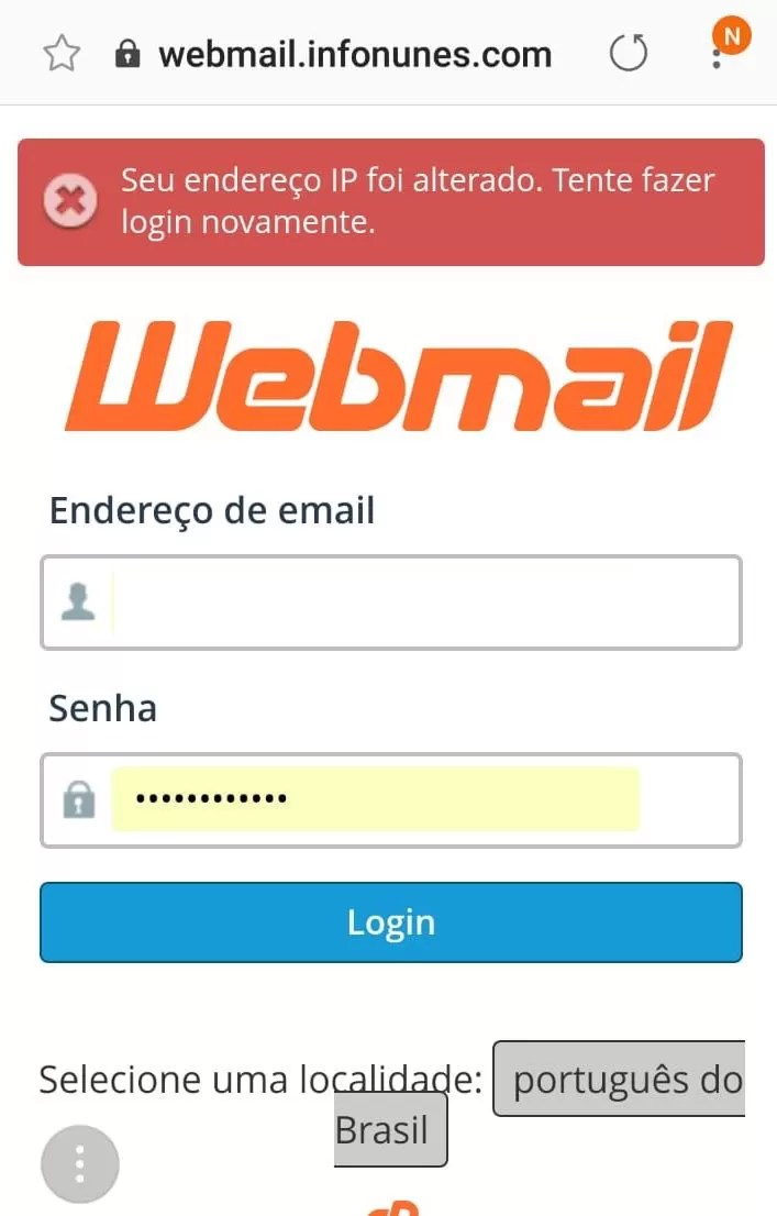 Seu endereço IP foi alterado: Solução para o erro