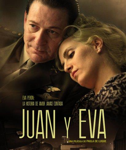 El cartel de Juan y Eva