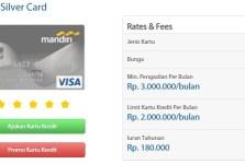 Kartu Kredit Mandiri Silver Visa