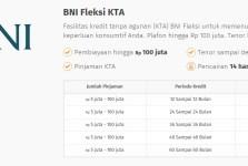 Pinjaman KTA Bank BNI Fleksi