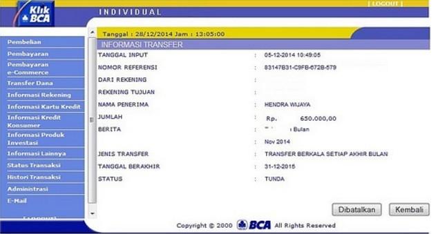 Cara Transfer Uang dari Rekening Bank BCA ke Mandiri