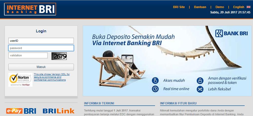 Situs Internet Banking Bank BRI