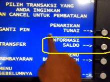 Informasi Saldo ATM BNI