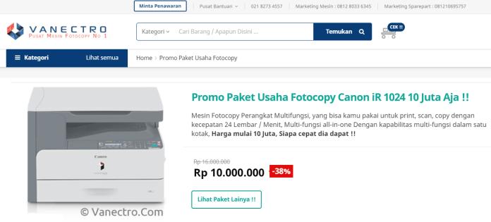 Paket Usaha Fotocopy 10 juta