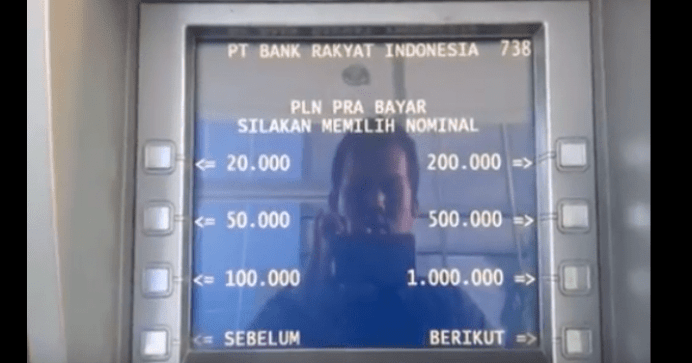 nominal token listrik di atm bri
