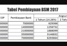 Tabel Pembiayaan BSM