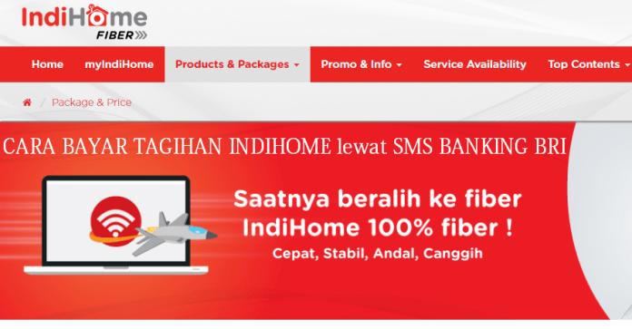 Bayar Tagihan IndiHome lewat SMS Banking BRI