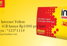 Paket Internet Yellow IM3 Ooredoo