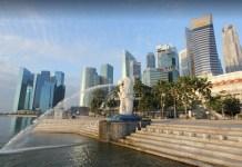 patung merlion singapura