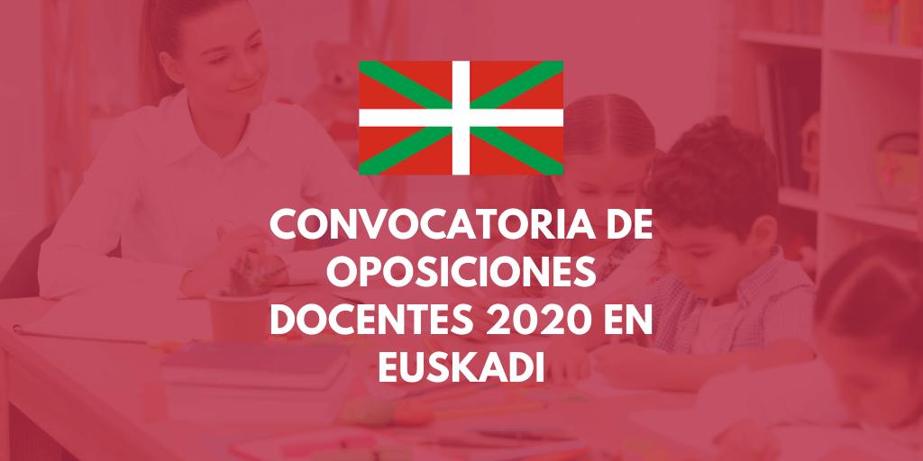 País Vasco: Convocatoria de oposiciones a los cuerpos de profesores de enseñanza secundaria y formación profesional