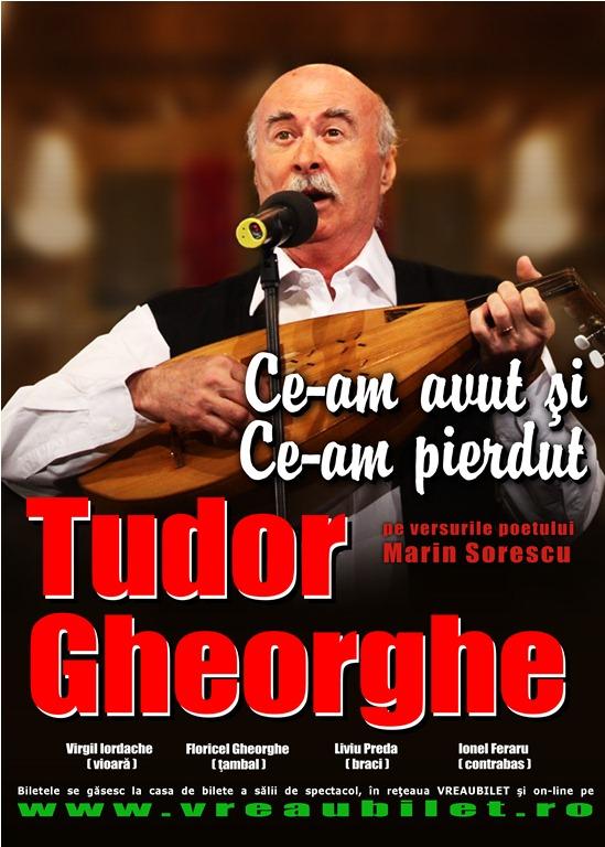 Un nou spectacol Tudor Gheorghe -