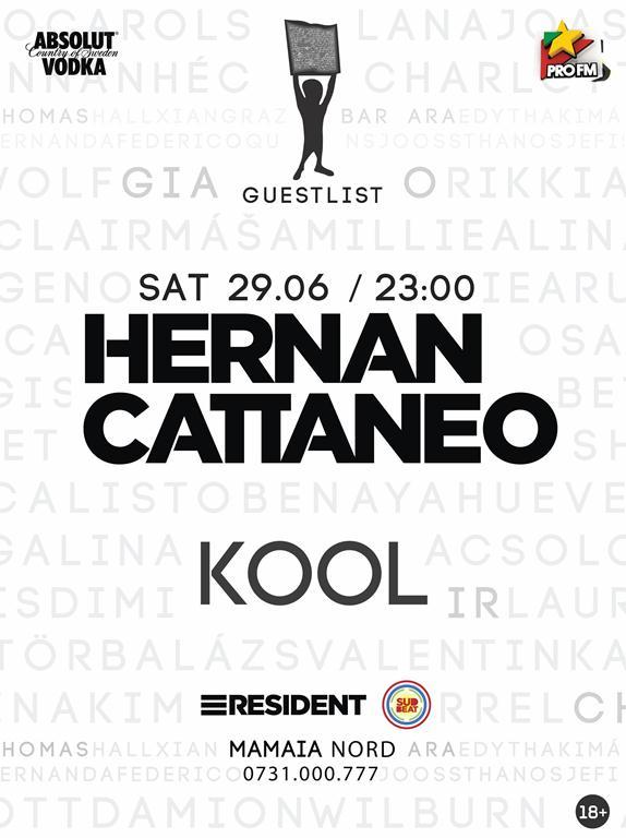 Hernan Cattaneo mixează la Guestlist Club