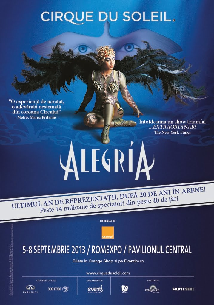 Cirque du Soleil, costume fabulose pentru Alegria