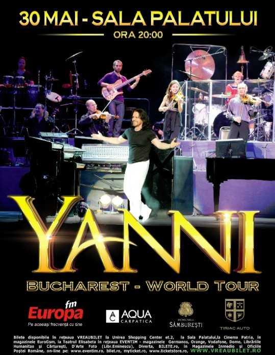 YANNI va prezenta la Sala Palatului cea mai noua productie artistica