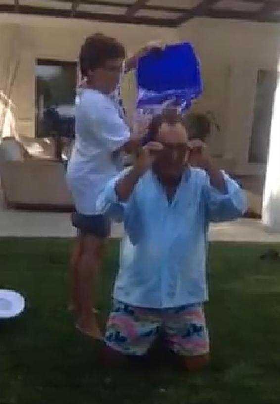 Al Bano a acceptat provocarea Ice Bucket!