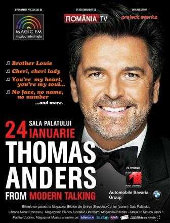 S-a reprogramat concertul artistului Thomas Anders