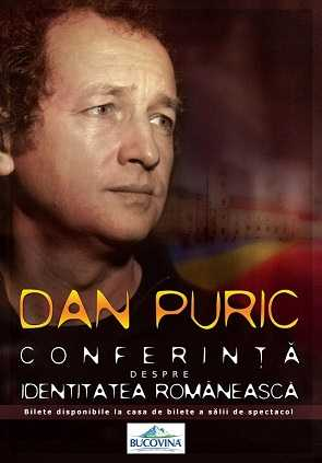 """Conferinta despre identitatea romaneasca"" cu  Dan Puric la Casa de Cultura Constanta"
