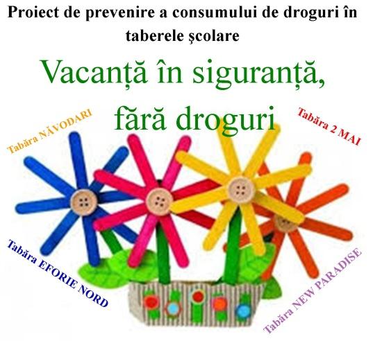 Prevenirea consumului de droguri în taberele şcolare şi centrele de plasament