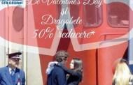 Două bilete la preț de unul de Valentine's Day și Dragobete