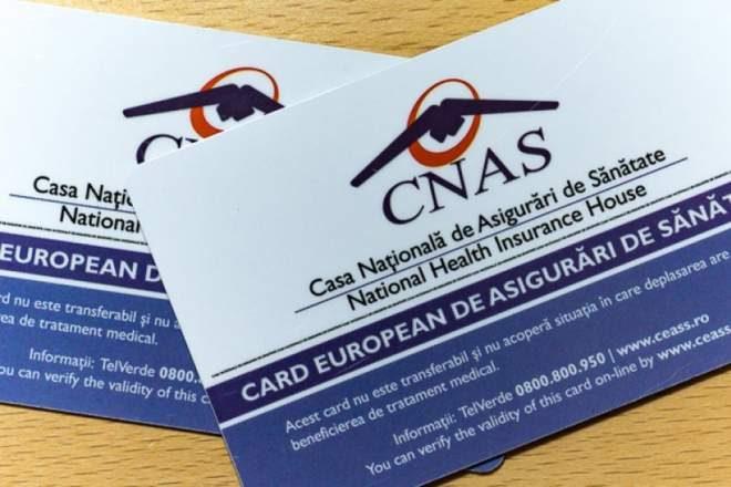 Decizie a CNAS în privinţa cardului european de sănătate