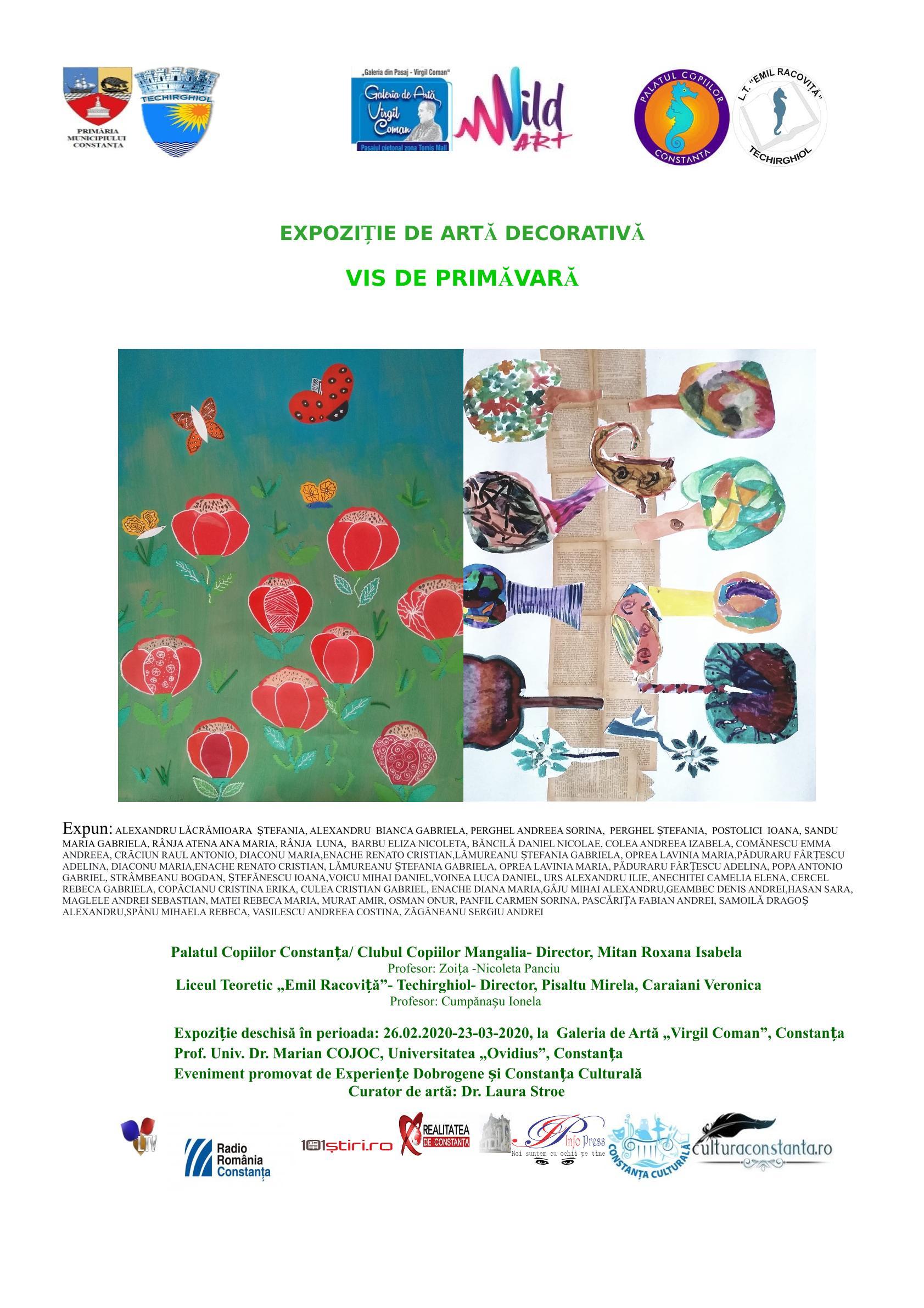 """Expoziție de artă decorativă la Galeria de Artă """"Virgil Coman"""""""