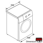 Bosch WAQ28461BY dimensiuni
