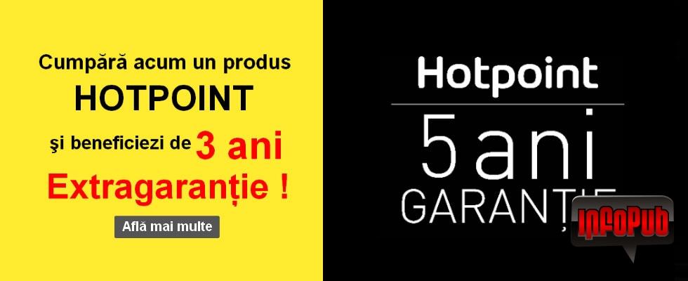 Extragarantie 3 ani la toate produsele Hotpoint