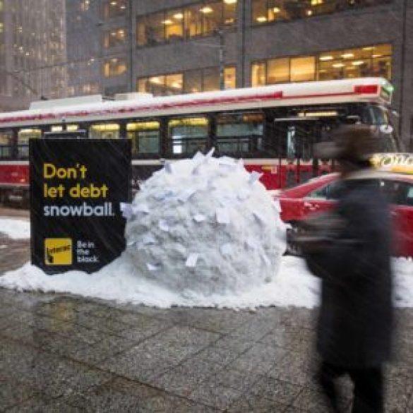 pubblicità creativa interact debiti