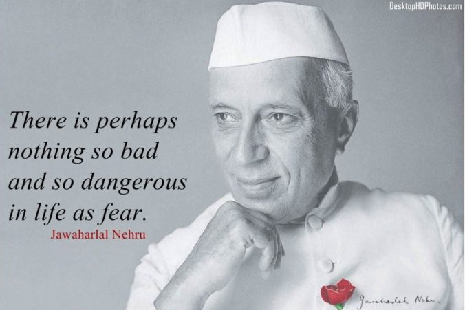 Nehru with rose