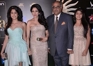 Sridevi Boney Kapoor and Daughters