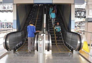 Escalator in Secunderabad Railway Station