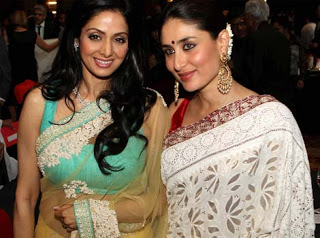 Sridevi with Kareena Kapoor