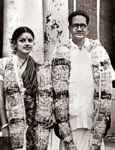M.S.Subbulakshmi and T.Sadasivam Wedding Photo