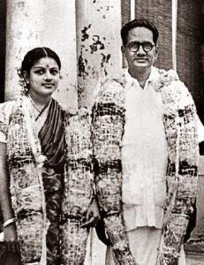 M.S.Subbulakshmi and T.Sadasivam Wedding Photo