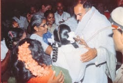 Rajiv Gandhi in Sriperumpudur on 21 05 1991