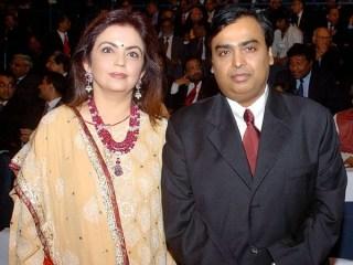 Mukesh Ambani and Nita Ambani