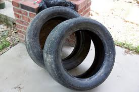 Old Tyres in Open