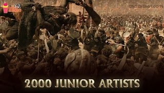 2000 Junior Artists in Bahubali War Scene